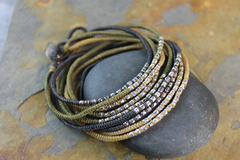 Olive Tatra Necklace/Wrap