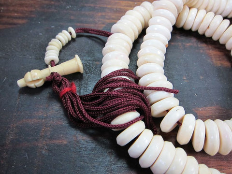 Polished Disc Bone Mala