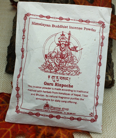 Guru Rinpoche Himalayan Buddhist  Incense Powder