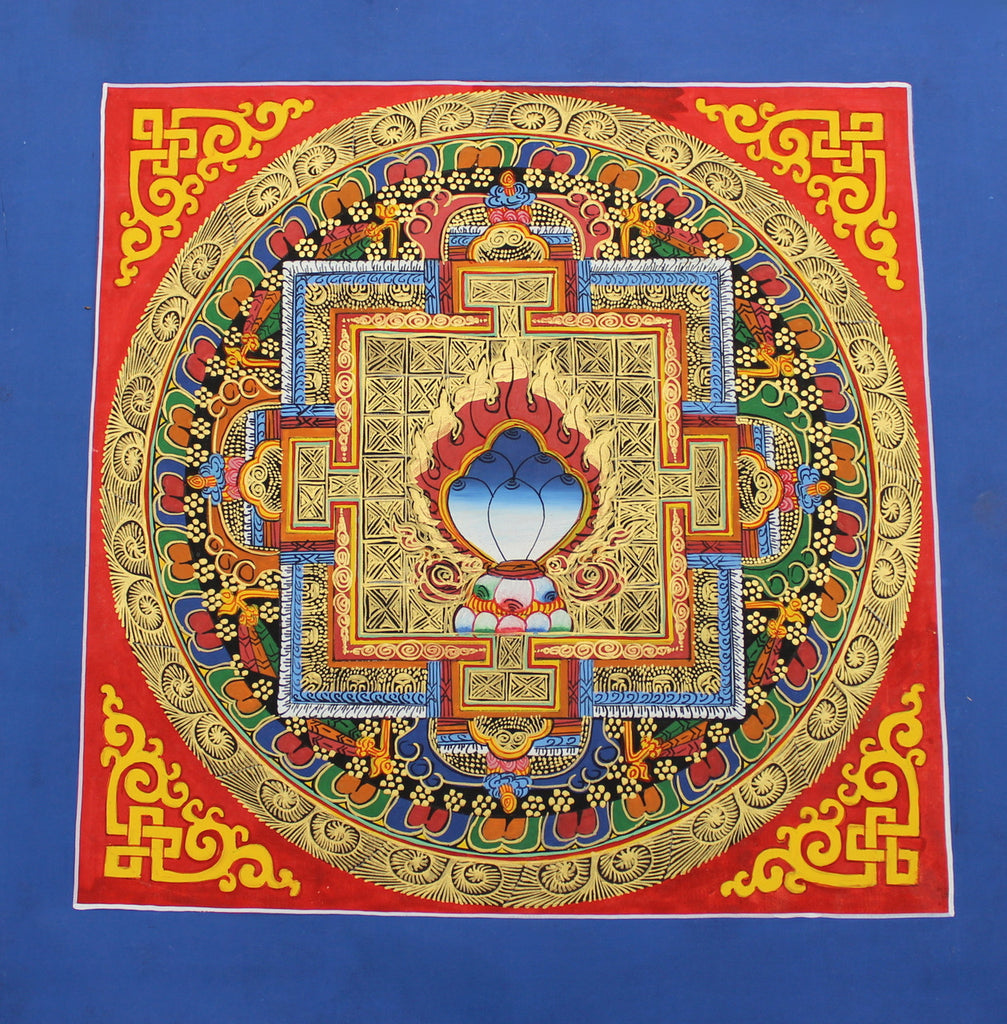Blue Jewel Mandala Thangka