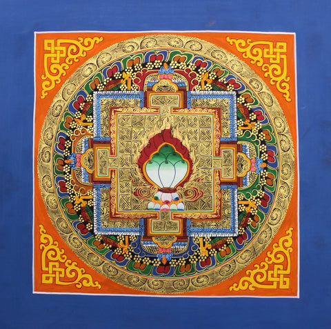 Green Jewel Mandala Thangka