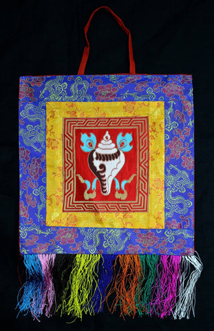 Sankha Conch Shell Offering Wall Hanging