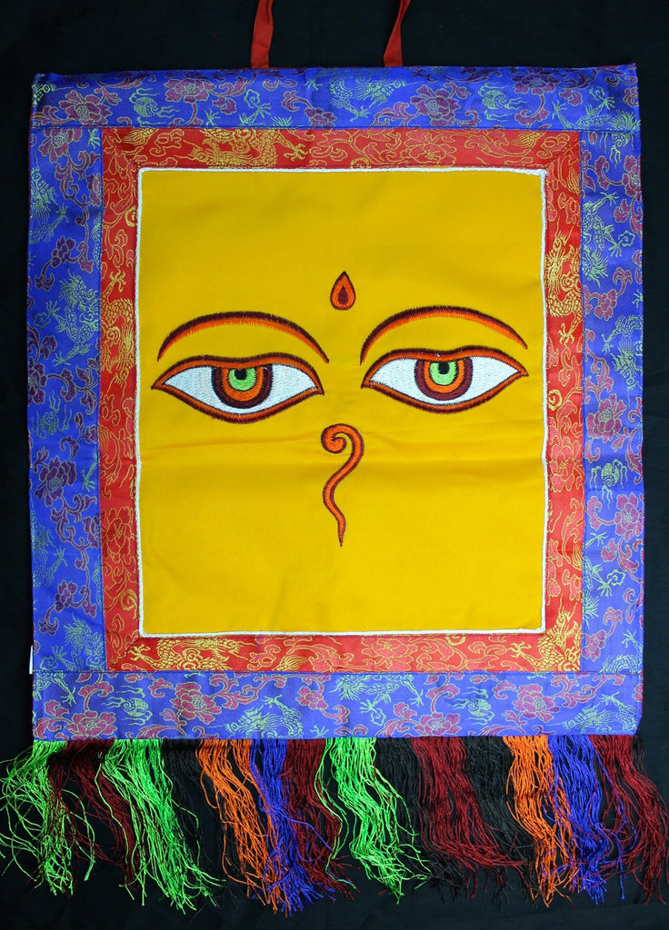 Large Buddha Eyes Embrodiery Wall Hanging Thangka