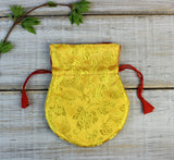 Yellow Silk Mala Bag