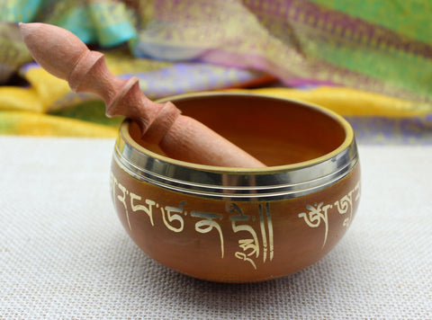 Manjsurhee Painted Singing Bowl