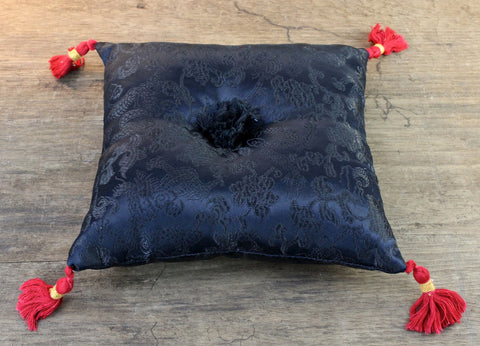 Black Dragon Singing Bowl Pillow