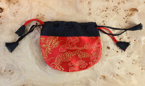 Small Red Dragon Mala Bag
