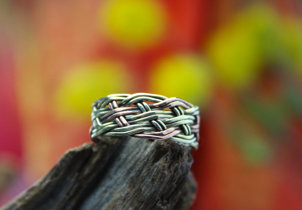 Braided Copper and Brass Ring