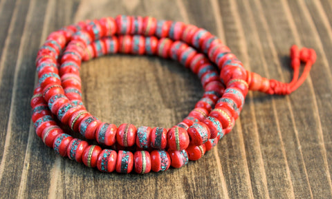 Ruby Red Yak Bone Mala