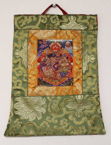 Small Wheel Of Life Thangka
