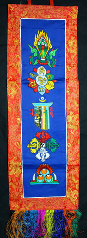 Buddhist Symbol Embroidery Banner Hanging