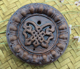 Eternal Knot Clay Incense Burner