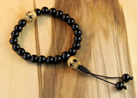 Impermanance Bone Wrist Mala
