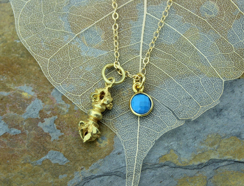 Vermeil Dorje Charm Set Necklace