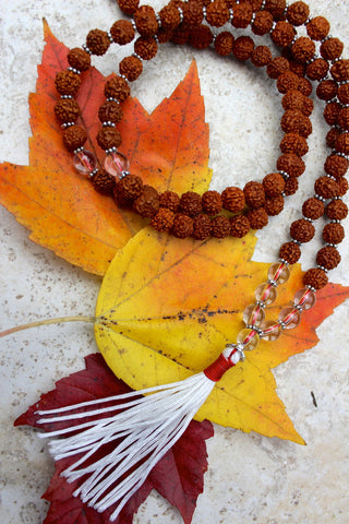 Rudraksha and Crystal Bead Mala