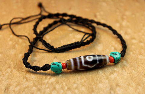Dzi Bead Protection Necklace