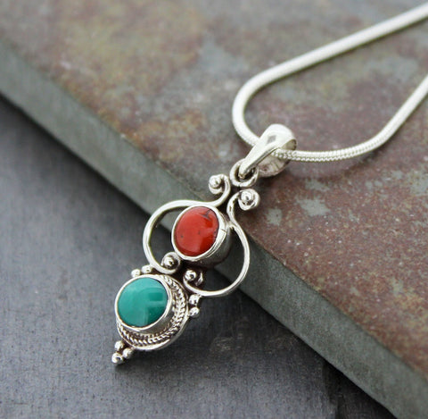 Simply Perfect Tibetan Sterling Pendant