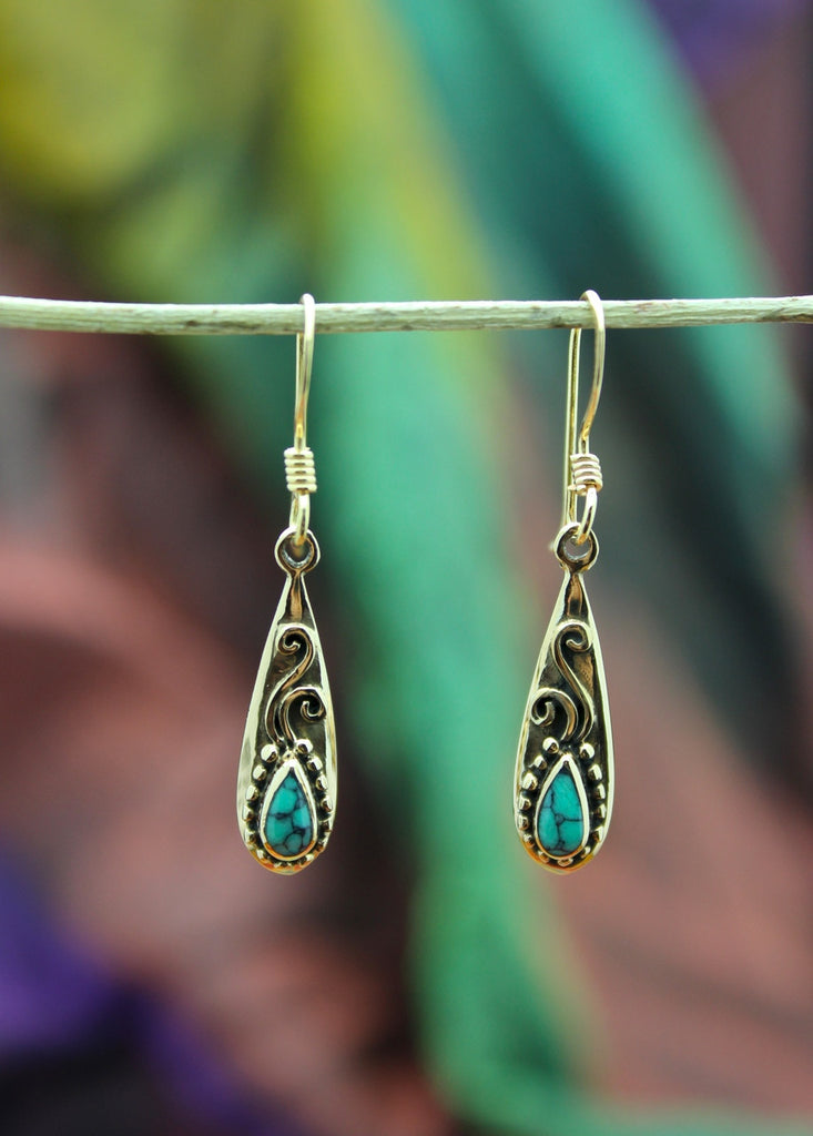 Bronze Drop Earring