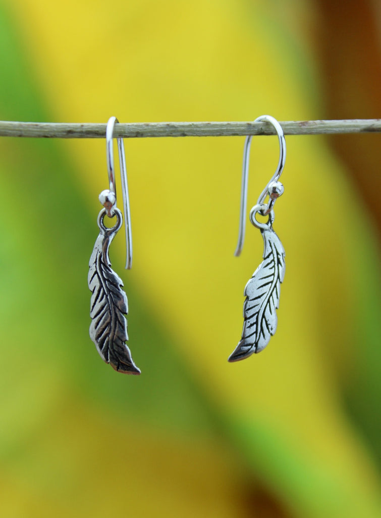 Sterling Feather Earring
