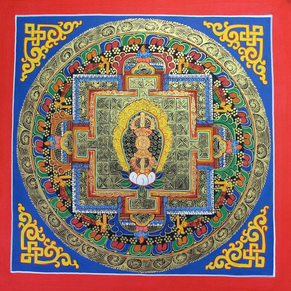 Painted in Gold Dorje Mandala