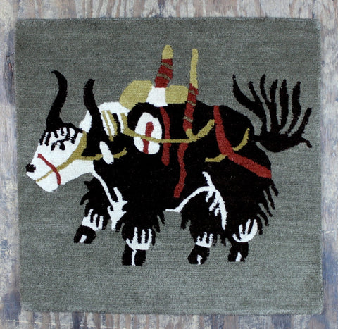 Tibetan Yak Meditation Carpet Brown