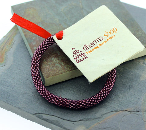 Nepalese Roll-On Bracelet in Plum