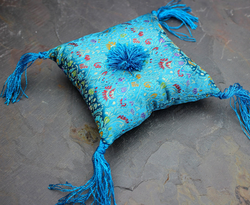 Extra Small Singing Bowl Pillow in Blue