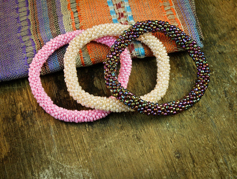 Neapolitan Set of Three Roll On Bracelets