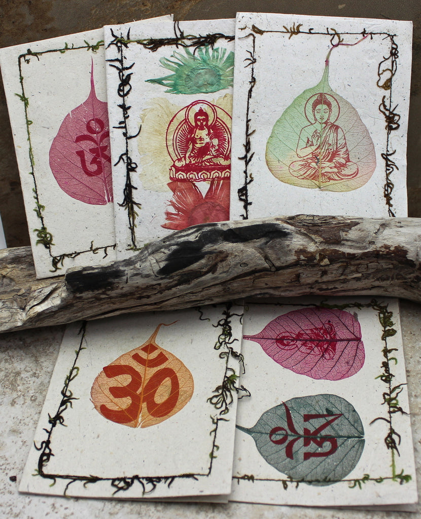 Bodhi Leaf Card Set