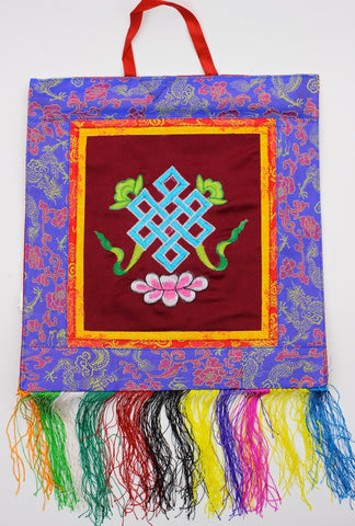 Eternal Knot Embroidery  Wall Hanging Thangka