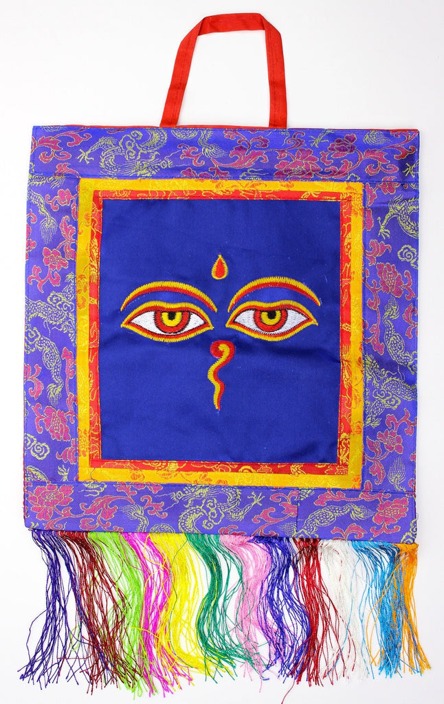 Buddha Eyes Embroidery Wall Hanging