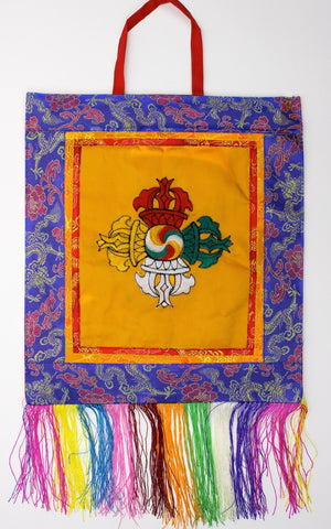 Double Dorje Embroidery Wall Hanging