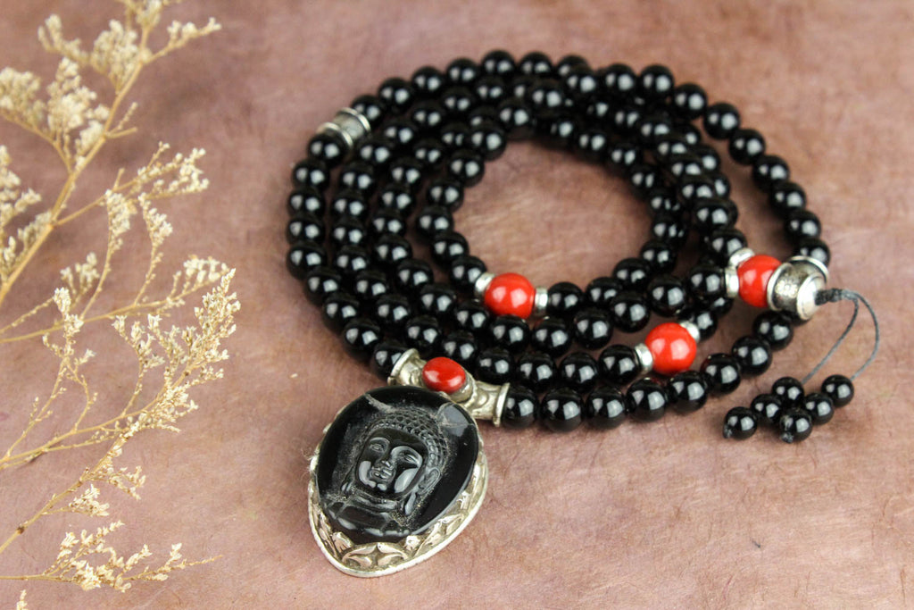 Sharper Senses Mala with Buddha Pendant