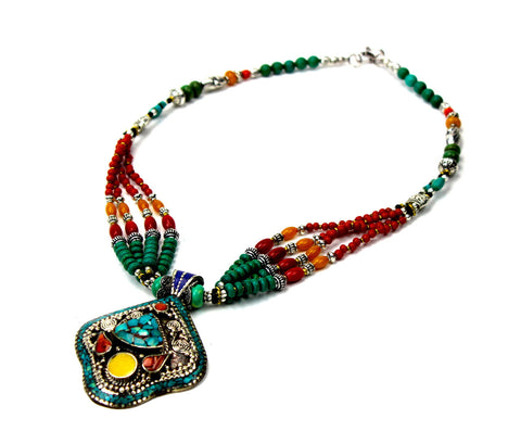 Night Sky Over Lhasa Tibetan Necklace