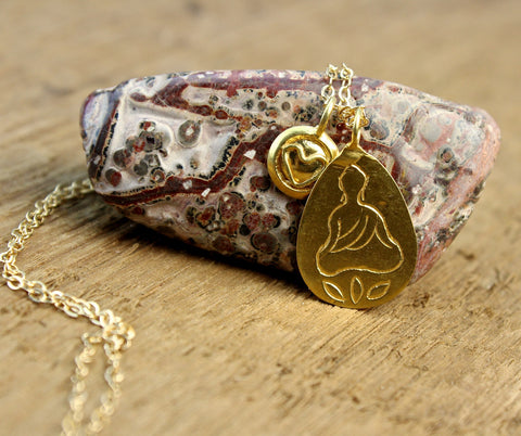 Gold Buddha's Heart Necklace