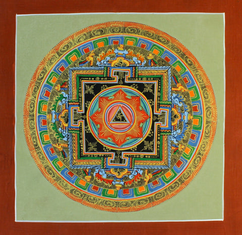 Hand Painted in Gold Mandala Thangka