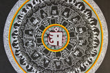 Touched in Silver Mandala Thangka