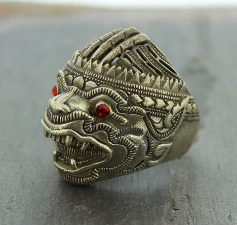 Mens Thai Wrathful Ring
