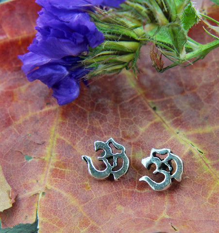 Tiny Sterling OM Earrings