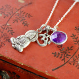Amethyst and Sterling Serenity Buddha Necklace