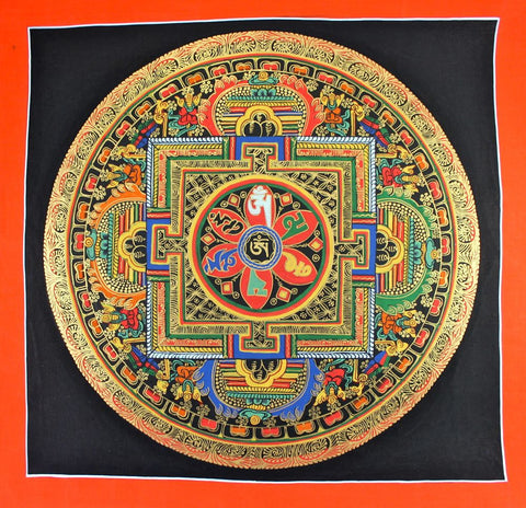 Painted in Gold Mandala Thangka