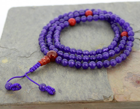Exceptional Amethyst and Jasper 108 Mala