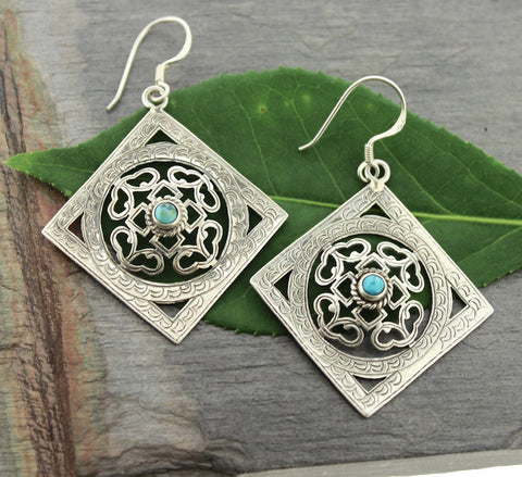 Sterling Silver Handcrafted Mandala Earrings