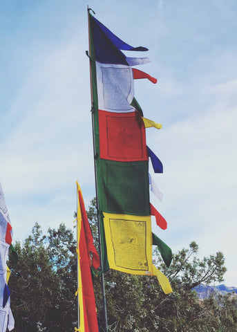 Multi-color Vertical Prayer Flags