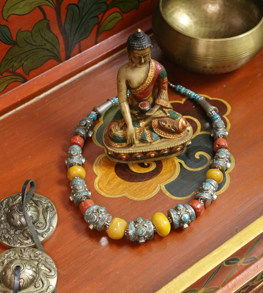 An Extraordinary Tibetan Coral Necklace