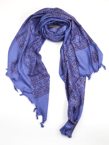 Extra Large OM Fair Trade Prayer Scarves