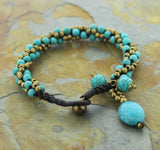 Himalayan Turquoise and Brass Bracelet