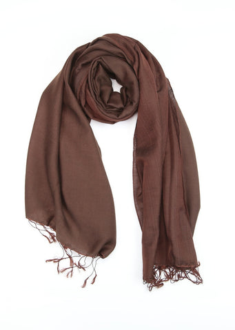 Chocolate Brown Pashmina Shawl