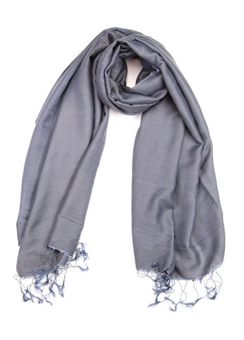 Pashmina Shawl in Steel Grey
