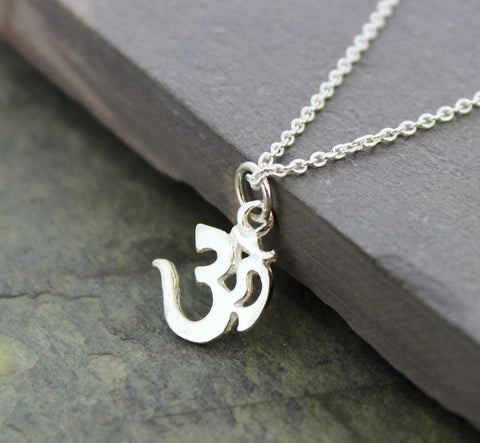 1/2 inch Sterling Silver Om Pendant